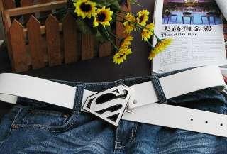 Superman logo fashion Metal Buckle leather Belt BSU7W