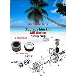 Zodiac / Muskin ME Series Pool Pump Shaft Seal 60603200