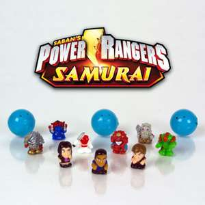 NiP SQUINKIES for Boys POWER RANGERS SAMURAI Bubble PACK 12 Characters