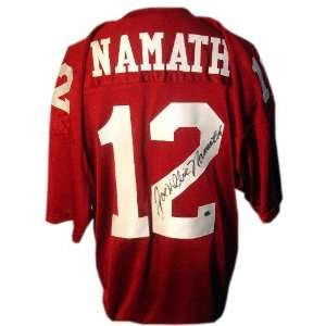 Joe Namath Alabama Crimson Tide Autographed Jersey  Sports