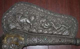 Antique Tibetan Chank/Shankha Conch Shell Trumpet Horn