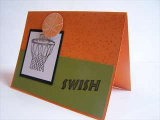 Stampin Up handmade greeting card BOYS basketball PYLOT