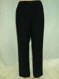 ANN TAYLOR Navy Blue Striped Dress pants Petites Sz 4P