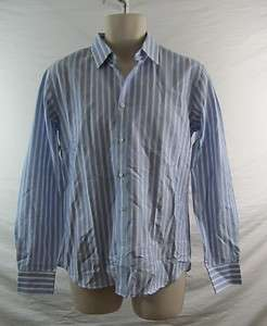 Simon Spurr Mens Stripe Dress Shirt Size Medium Retail $295
