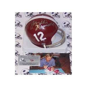 Joe Namath Autographed Alabama Crimson Tide 2 Bar Mini Football