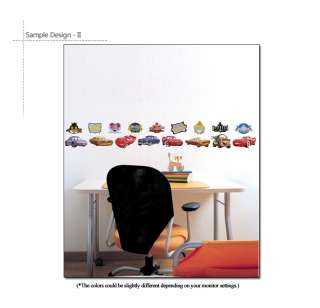 DISNEY CARS ★ MURAL DECOR REMOVABLE DECALS WALL STICKER