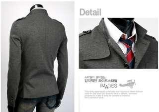 england fashion warm stand up Collar Slim Fit man overcoat Coat SC856