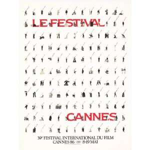 Cannes Film Festival Movie Poster (11 x 17 Inches   28cm x 44cm) (1986