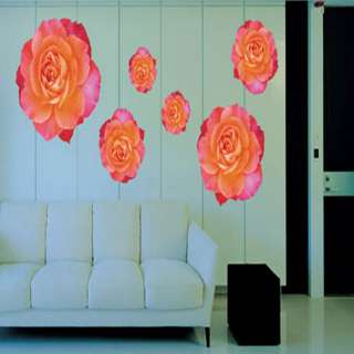 ROSE SET Large size Mural Art Flower Wall Paper Sticker