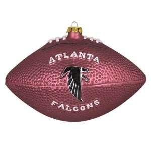 Pack of 2 NFL Atlanta Falcons Glass Football Christmas