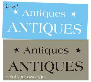 STENCIL 2 sizes Antiques you paint country Primitive