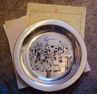 Franklin Mint Sterling Silver Plate by Stevan Dohanos w/COA