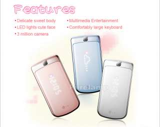 UNLOCKED LG GD310 ICE CREAM FLIP PHONE GSM 3 MP CAM Phone 2.4 INCH
