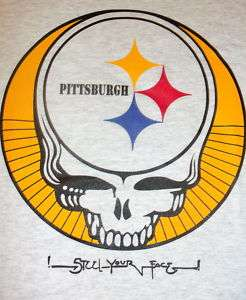 Grateful dead Pittsburgh Steelers skull shirt ANY SIZE