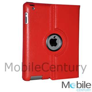 IPad 2 magnetic smart cover leather case rotating stand . Perfect fit