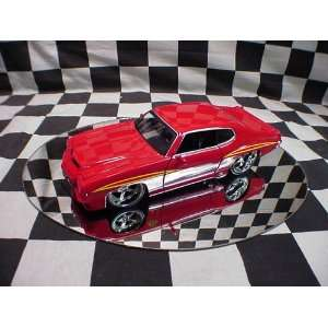 Time Muscle Red 1971 Pontiac Gto 124 Scale Die Cast Car Toys & Games