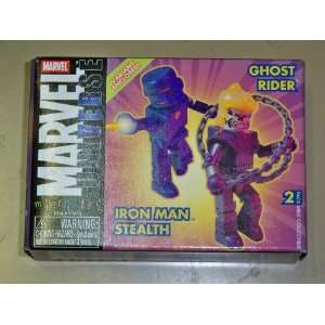 MARVEL MINIMATE STEALTH IRON MAN VARIANT GHOST RIDER Toys & Games