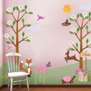 Girls Room Forest Theme Wall Stickers