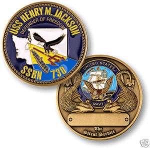 NAVY HENRY M JACKSON SSBN 730 SUBMARINE CHALLENGE COIN