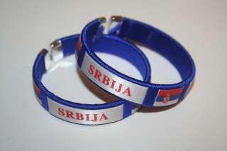 SRBIJA BLUE COUNTRY FLAG FLEXIBLE C BRACELETS SERBIA