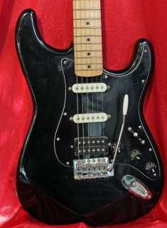 Fender Squier Bullet Series Custom Black Strat w Premium Gig Bag