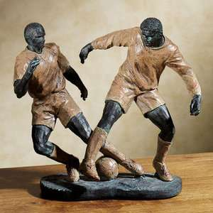 Soccer Player Sports Table Sculpture Statue Figurine