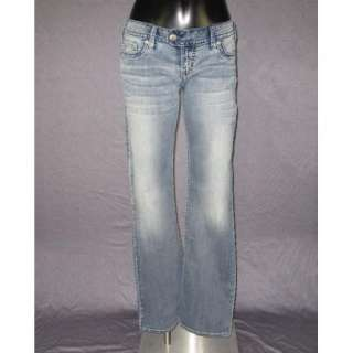 NWT Womens SILVER Jeans LOW RISE STRAIGHT FIT BOOTCUT MED BLUE TUESDAY