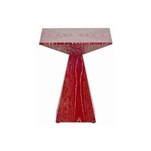 Arteriors Nate Red Limed Oak Accent Table   5338 Home