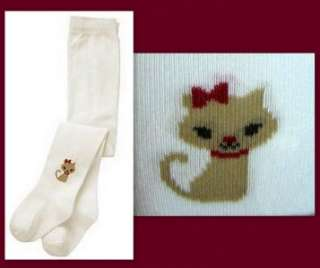 Gymboree GLAMOUR KITTY Cat Face Tights 0 3 6 9 12 18 24