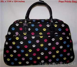 PAW PRINT BAG Travel Dance Purse Duffle Tote Luggage Xmas Gift Dog Cat