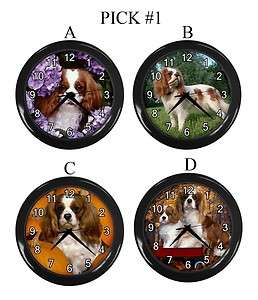 Cavalier King Charles Spaniel Dog Puppy Puppies A D Wall Clock Gift