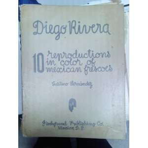Diego Rivera 10 Reproductions in Color of Mexican Frescoes Books