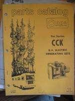 Vinage Onan CCK Generaor Pars Caalog Manual Book  