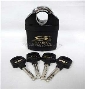 Sobo High Security Padlock Shrouded 4 Key Weather SPPO