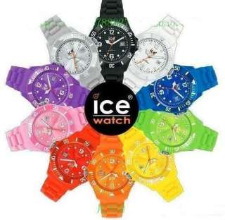 2012 / 5pcs hot ICE watch fashion jelly watch with Calendar 12 colors