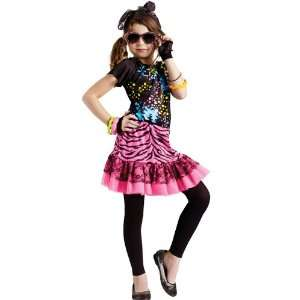 80'S Pop Party Costume Large 12 14 Girl's Retro 2011