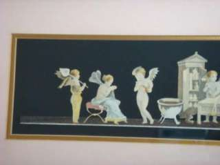 Vintage Cherub & Angels Art Deco Framed Print