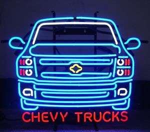 Neon Sign Chevy Truck GM Chevrolet open Mancave trucks