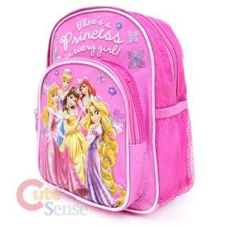 Disney Princess w/Rapunzel School Backpack Bag 10Small