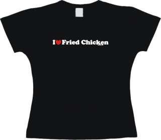 Heart (Love) Fried Chicken WOMENS Shirt PICK Size
