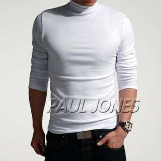 New Mens Slim Fit Cotton+Lycra Long Sleeve Casual T Shirt Tops Muscle