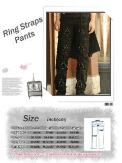 Punk Meaning Rock Goth Gothic Kei Emo Ring Straps Pants