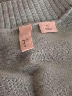 Anthropologie Frenchi light blue cotton shawl long cardigan sweater S