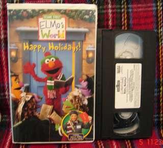 Elmos World Sesame Street Happy Holidays Vhs Clamshell Christmas