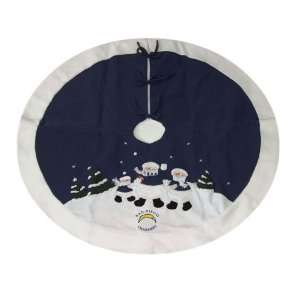 Diego Chargers NFL Snowman Holiday Tree Skirt (48)