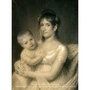 Mrs. Daniel Strobel, Jr. (Anna Church Strobel) and Her Son
