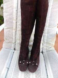 SIGERSON MORRISON TALL SUEDE BURGUNDY BOOTS SZ 6 1/2 B $800