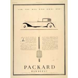 1929 Ad French Packard Barbezat Limousine Car Art Deco
