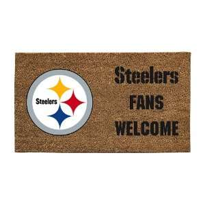 Pittsburgh Steelers Lighted Coir Door Mat Patio, Lawn & Garden