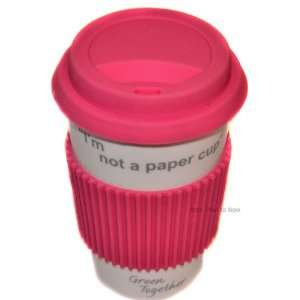 Paper Cup Thermal Insulated Ceramic Eco Cup Travel Mug with Silico